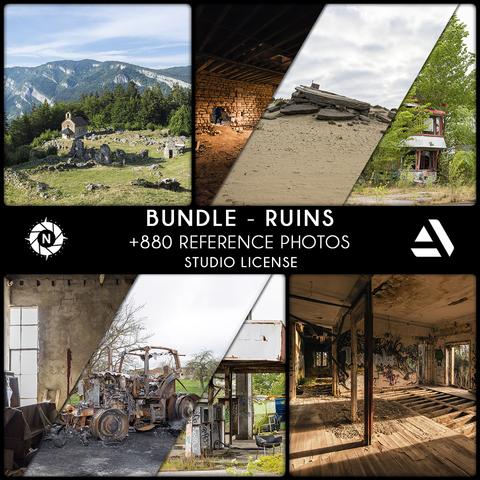 Bundle Reference Photos: Ruins - Studio License