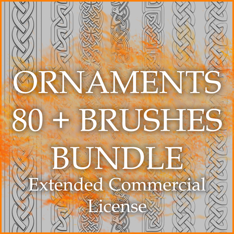 Ornaments 80+ Brushes Bundle (Extended Commercial License)