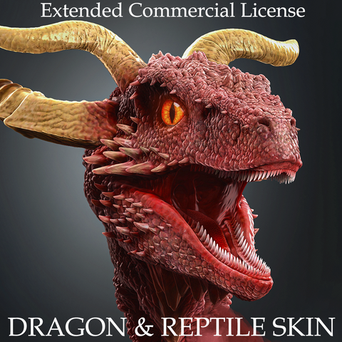 Dragon & Reptile Skin Brushes and Alphas Bundle (Extended Commercial License)