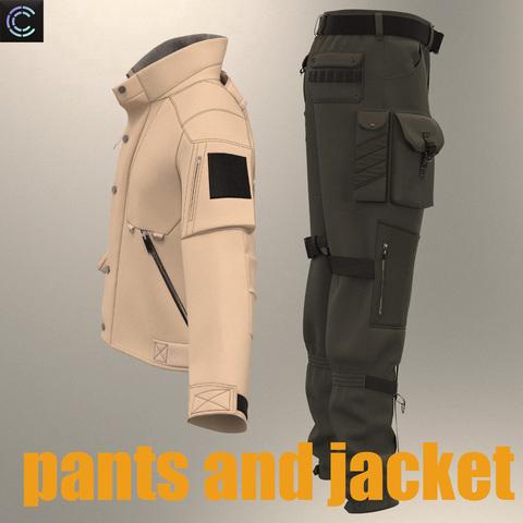 pants and jacket (Clo3D project+Obj Files)