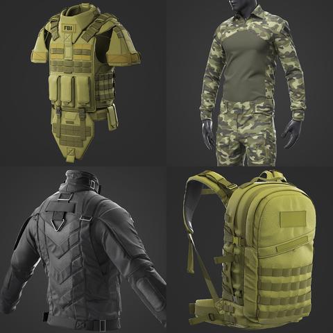 Military Uniform / Marvelous Designer / Clo 3D project