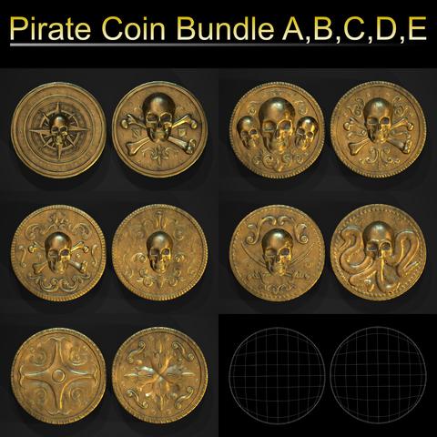 Piarte Coin Bundle - A,B,C,D,E