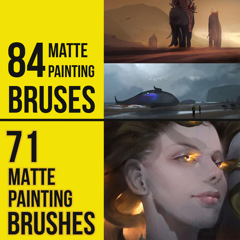 155 Matte Painting Brushes for Photoshop