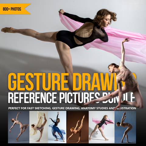 Gesture Drawing Reference Pictures Bundle