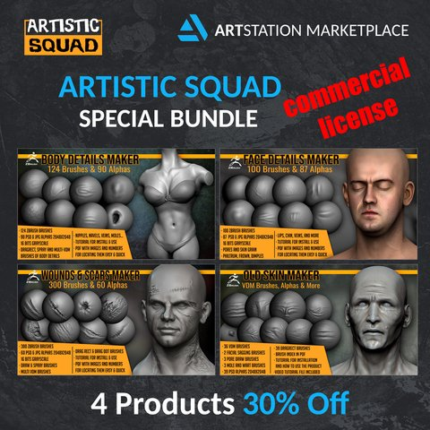 Character Art Details Bundle Commercial