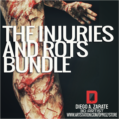 THE INJURIES AND ROTS BUNDLE - PBR - 4K MATERIALS