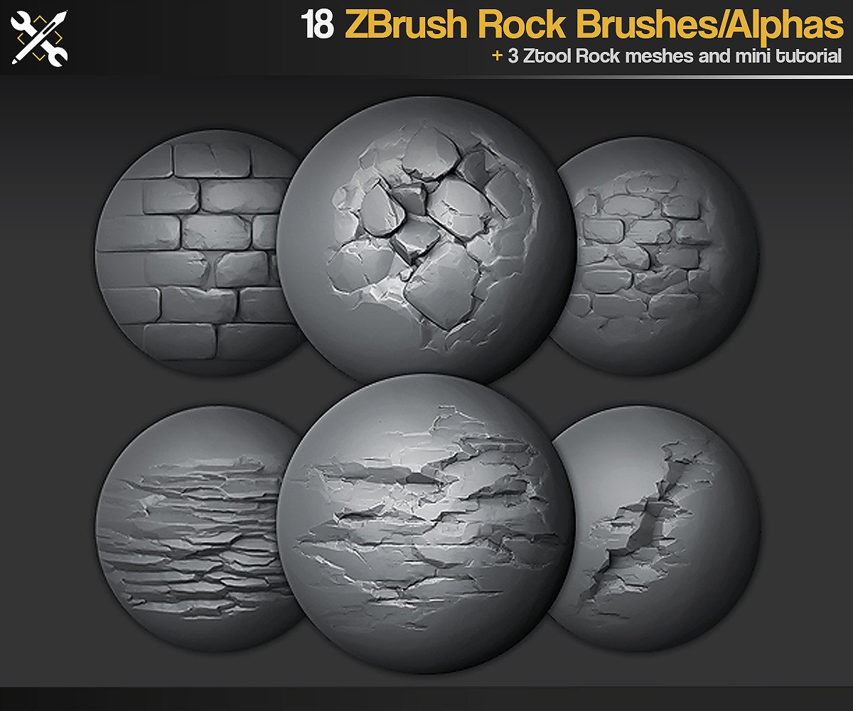 JROTools - Tools for 3D artists - ZBrush/SP - 18 Rock