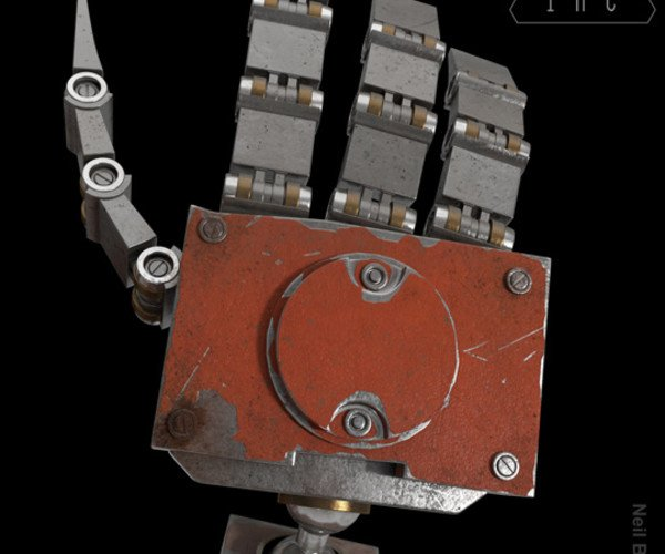 Shading A Hard Surface Model 2014: Texturing A Robot Hand Video Tutorial
