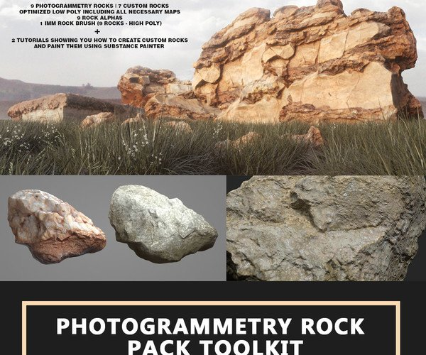 Photogrammetry Rock Pack Toolkit