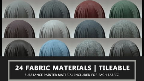 24 Fabric Materials Part 1 - 4K - Tileable