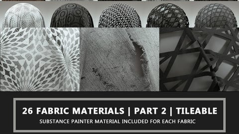 26 Fabric Materials Part 2 - 4K - Tileable