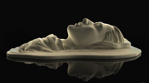 'Drowning' 3D Printable Sculpture