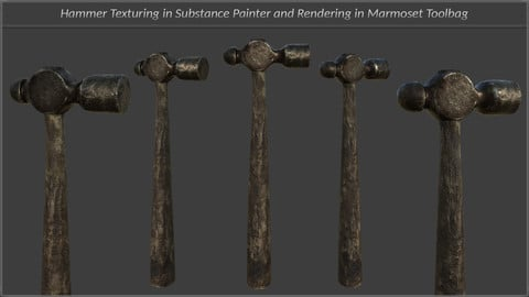 Blacksmith Hammer Texturing And Rendering