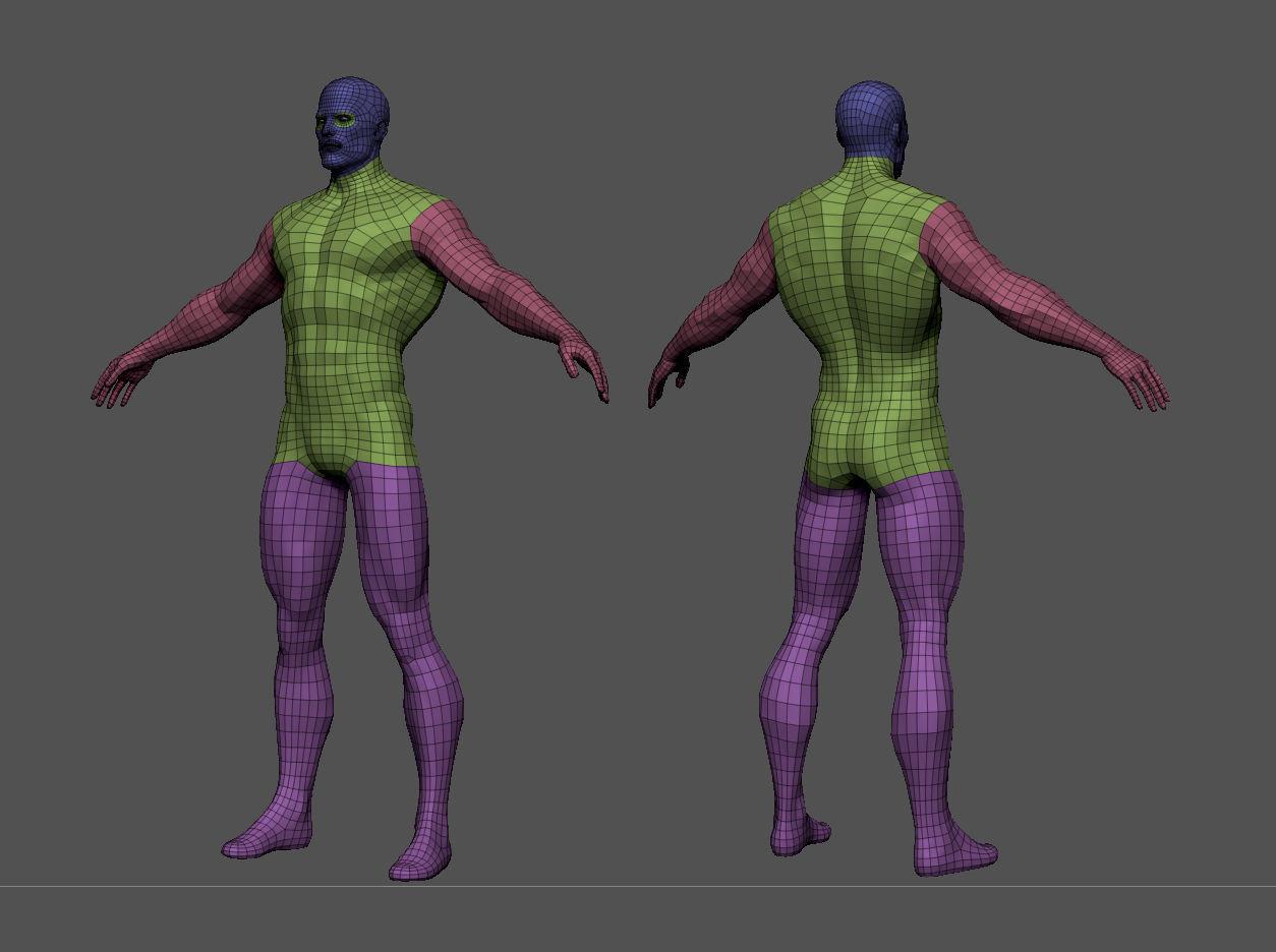 Superhero base mesh 3d model low poly obj fbx ma mb ztl mtl tbscene%20%281%29