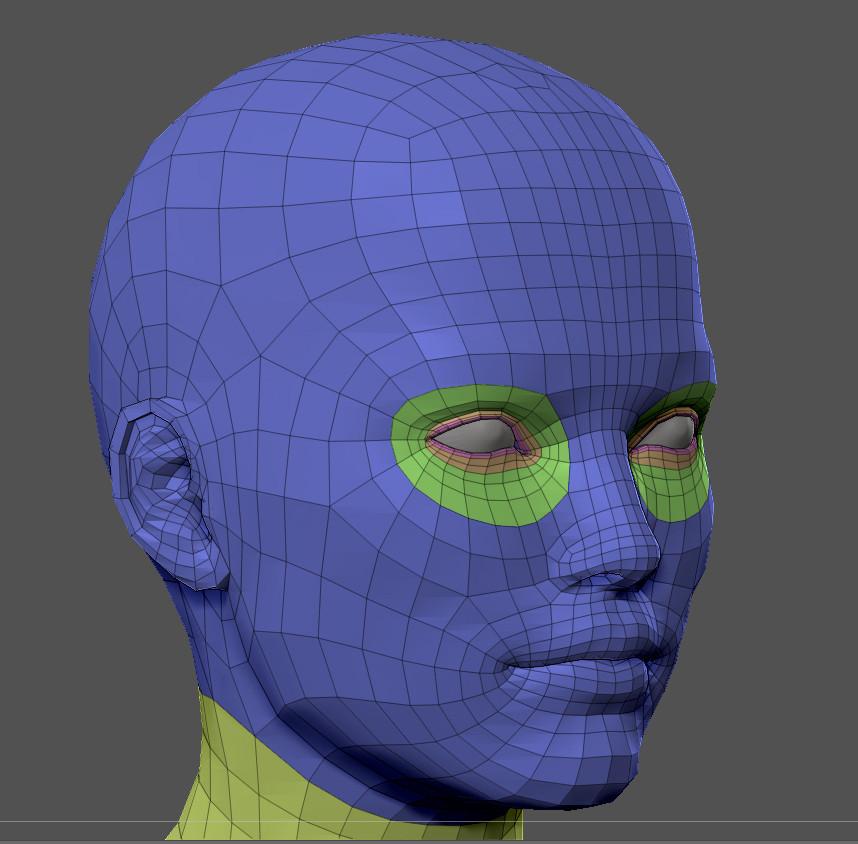Superhero basemesh by alexlashko zbrush wire face