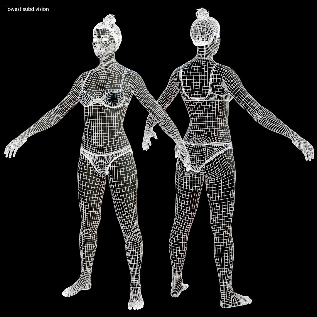 Averagemalebody by alexlashko wireframe 01