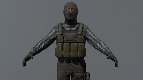 Terrorist Rigged Game Ready Model