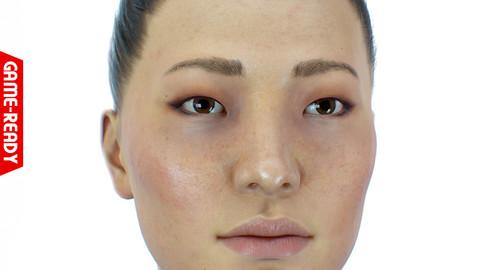 Average Asian Female Head