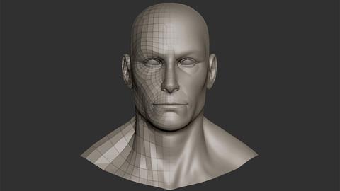 Male head basemesh 1 photo 1