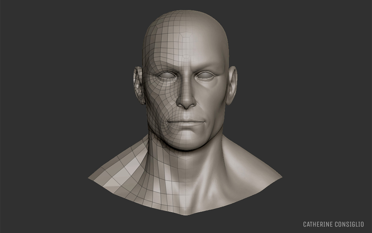 Male head basemesh 1 photo 1