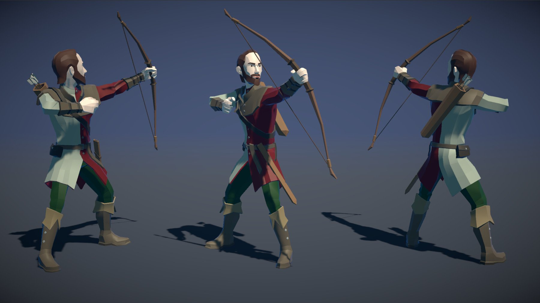 Pt medieval lowpoly characters archer 02