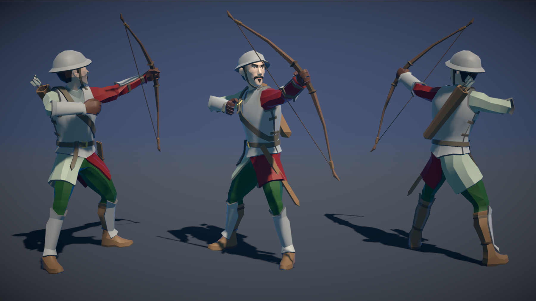 Pt medieval lowpoly characters archer 03