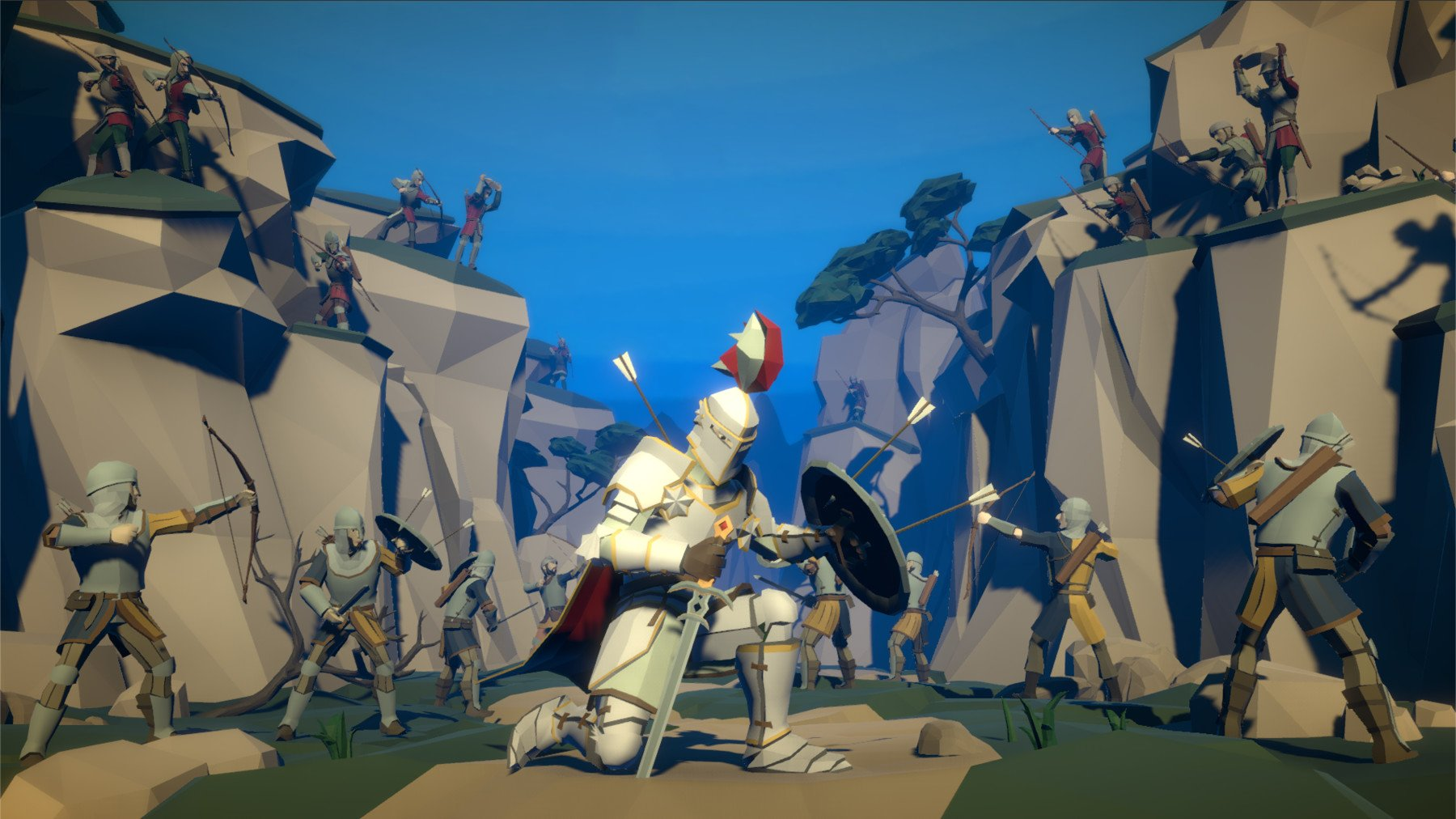 Pt medieval lowpoly characters diorama