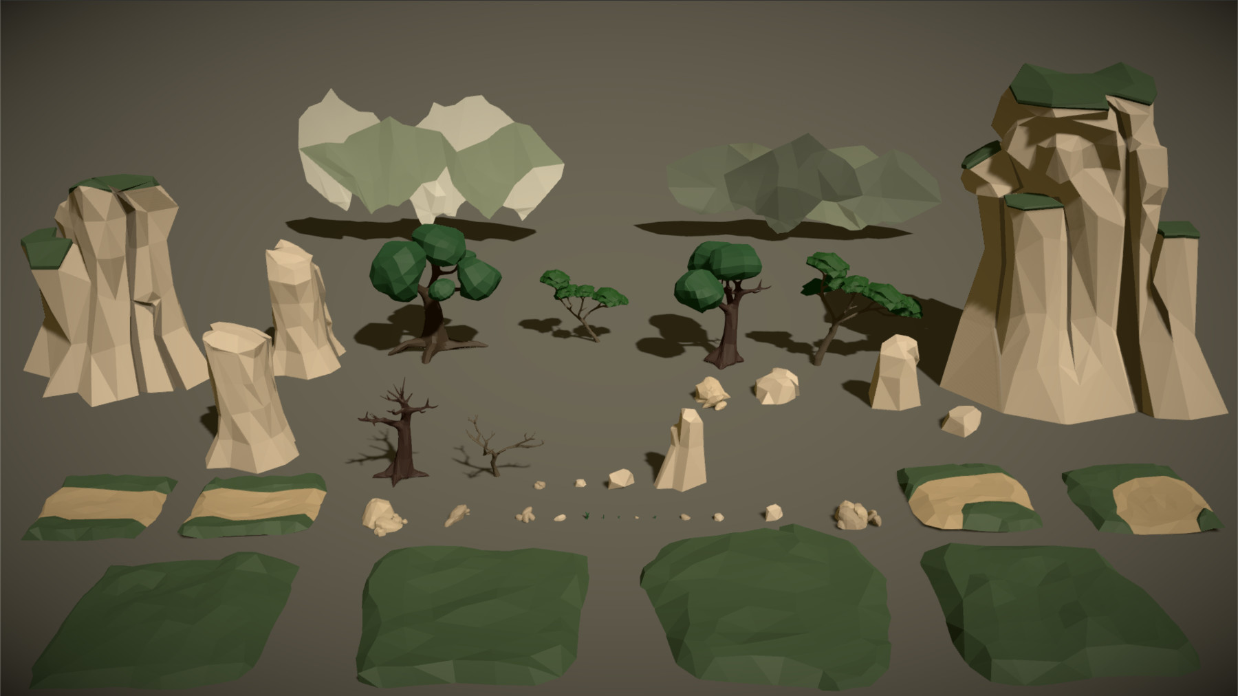 Pt medieval lowpoly characters environment