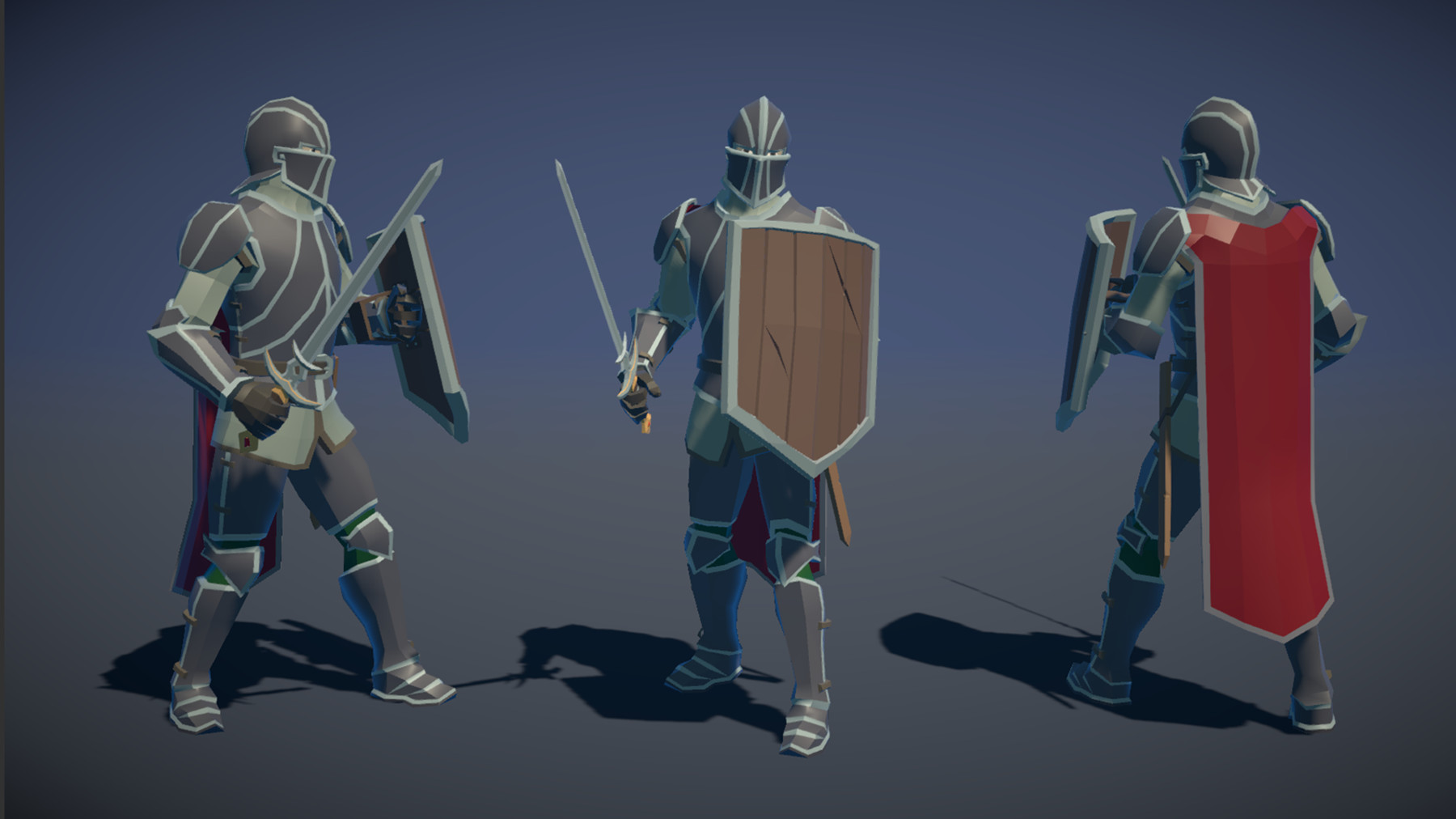 Pt medieval lowpoly characters knight 01