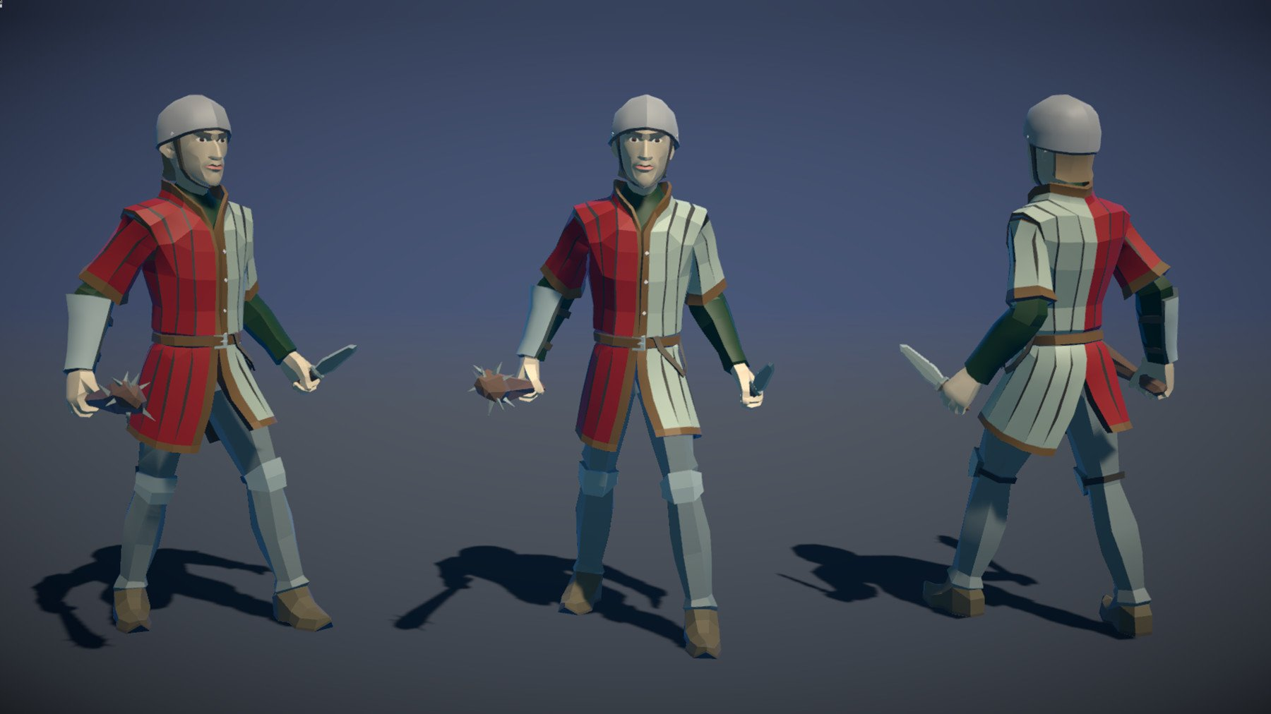 Pt medieval lowpoly characters militia 02