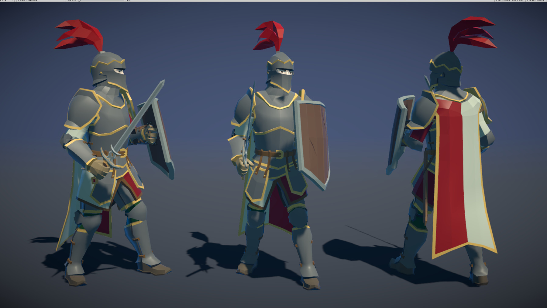 Pt medieval lowpoly characters knight 02