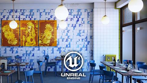 Bistro Restaurant Scene - Asset Pack (UE4 Realtime Archviz)
