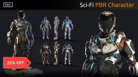 Lunar Suit - PBR Sci-Fi Character