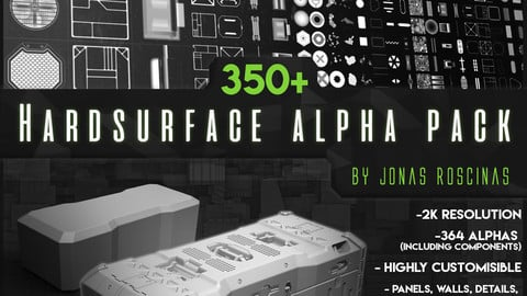 350+ Hardsurface Alpha Pack by J Roscinas