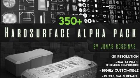 350+ Hardsurface Alpha Pack by J Roscinas