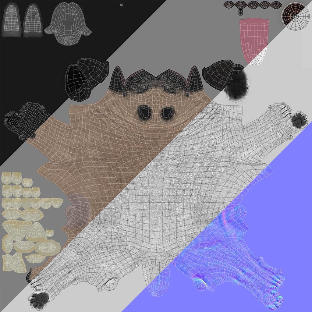 Pug real time 3d model low poly obj fbx ma mb ztl mtl tbscene