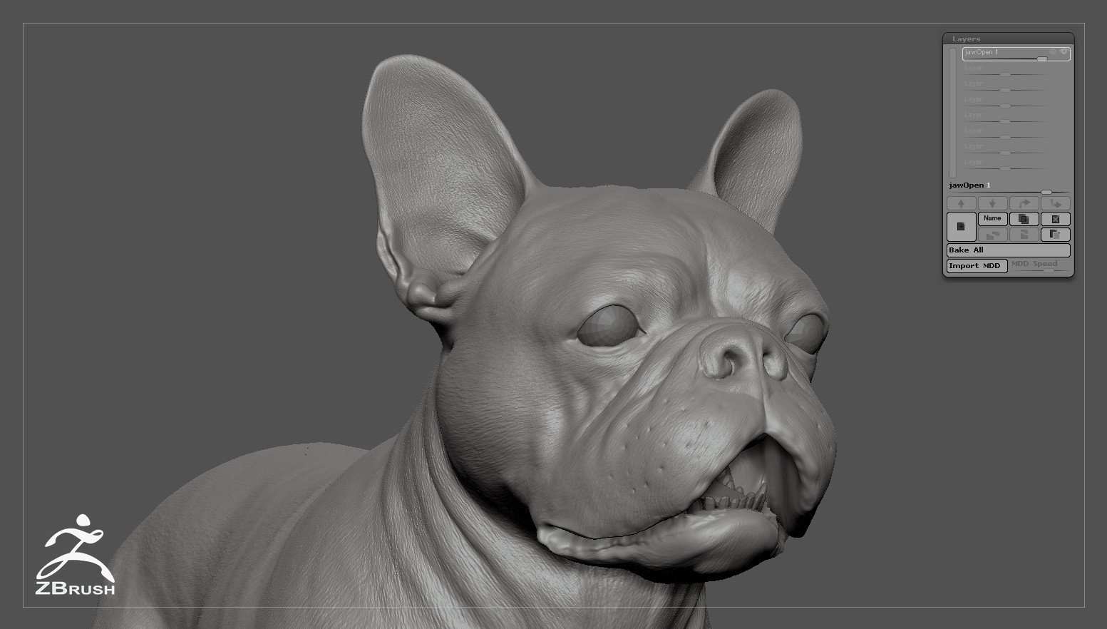 Frenchbulldog by alexlashko zbrush 06