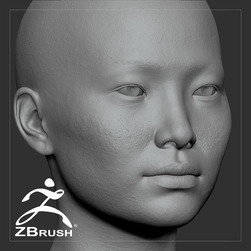 Averageasianfemale by alexlashko zbrush 00