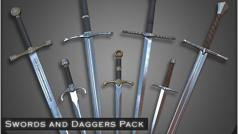 HQ Game Medieval Weapons (Swords)