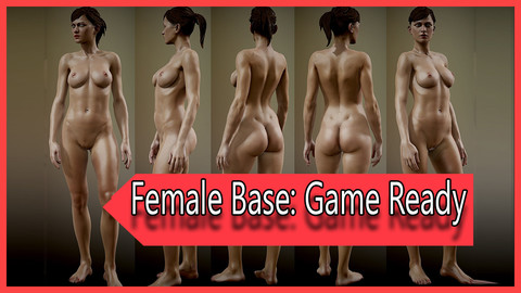 Realistic Female Game Ready fully Rigged