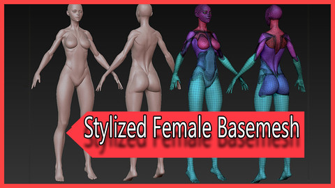 Dylan's Stylized Female Basemesh