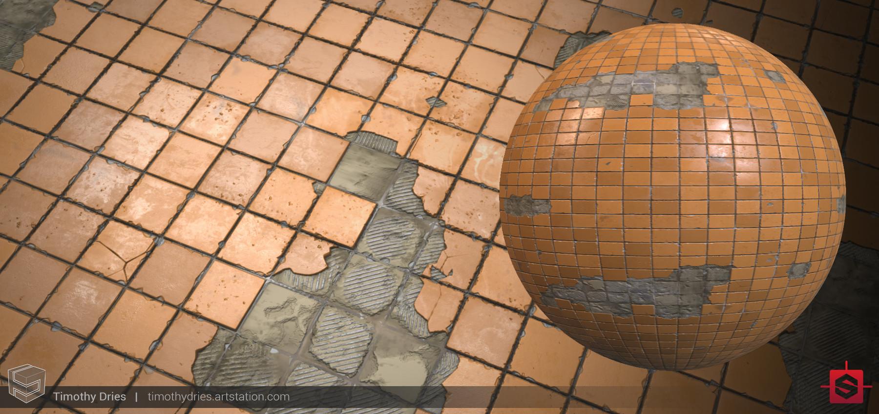 Tiles orange