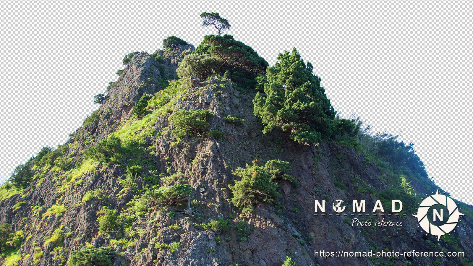 Png cutout photo pack asian moutains 7
