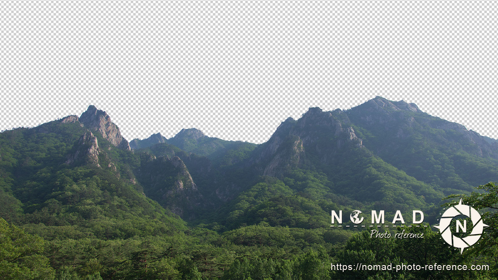 Png cutout photo pack asian moutains 10