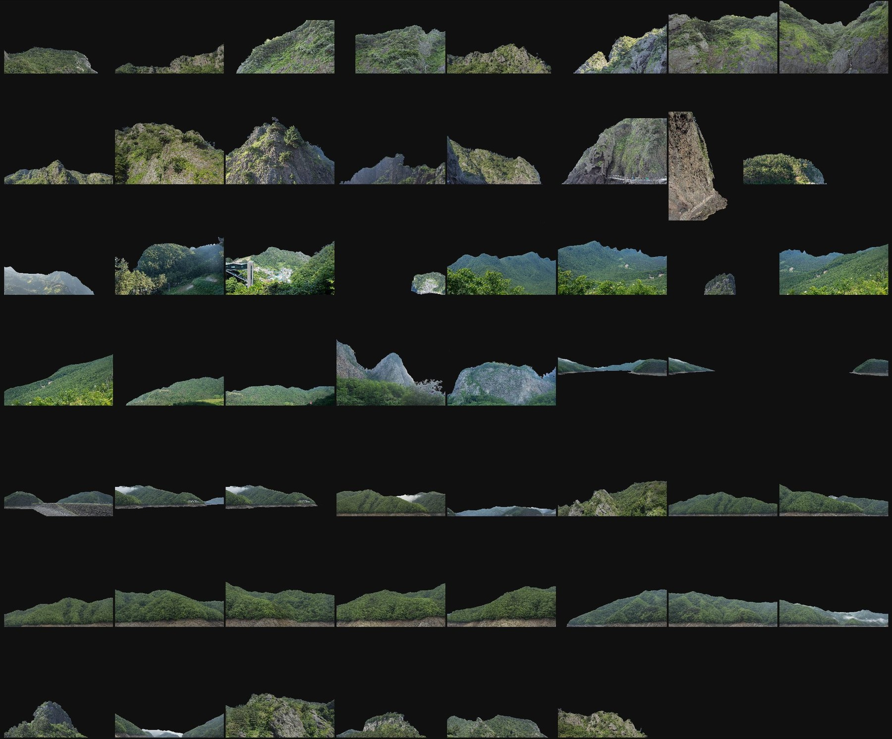 Png cutout photo pack asian moutains 1