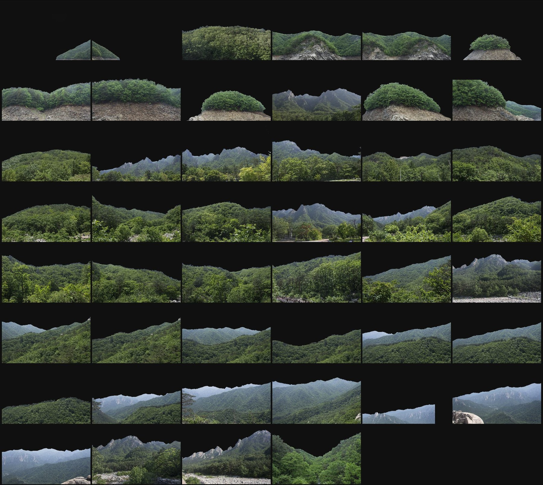 Png cutout photo pack asian moutains 2