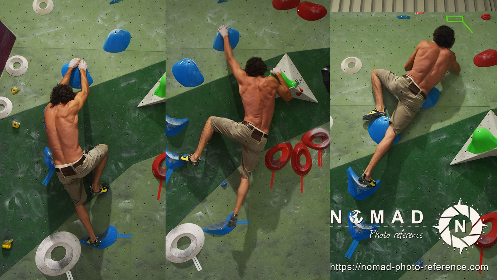 Photo reference pack climbing pose 11