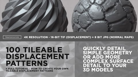 100 Tileable Displacement/Alpha Patterns Part 1