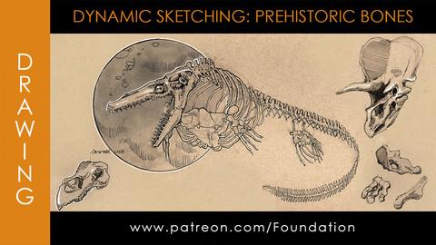 Foundation Art Group - Dynamic Sketching: Prehistoric Bones