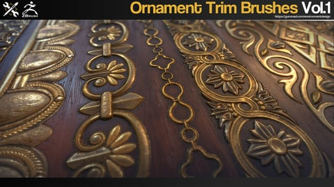 ZBrush - 60 Ornament Trim Brushes Vol.1